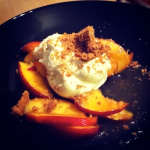 Nectarines with Honey Mascarpone