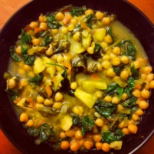 Garbanzo and Spinach Soup